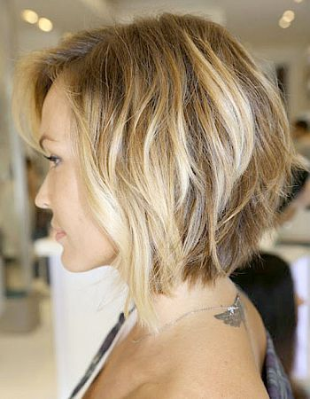 Layered funky hairstyle