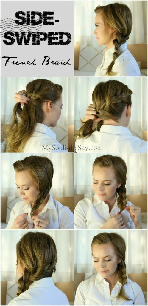 Braided hairstyle for work