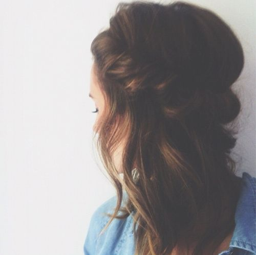 Twisted brunette hairstyle