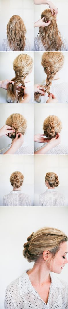 Simple French Braid Twist hairstyle