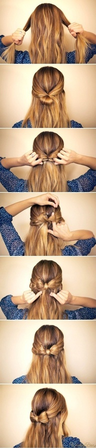 Simple bow hairstyle