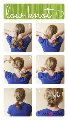 Knotted low bun