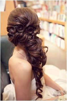 Flowers bridal hairstyle