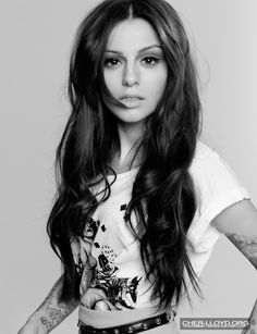 Middle part long wavy hair for Cher Lloyd hairstyles