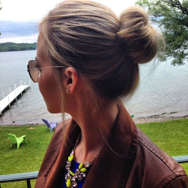 Simple high bun for women