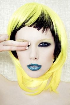 Yellow bob hairstyle