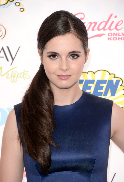 Vanessa Marano side ponytail