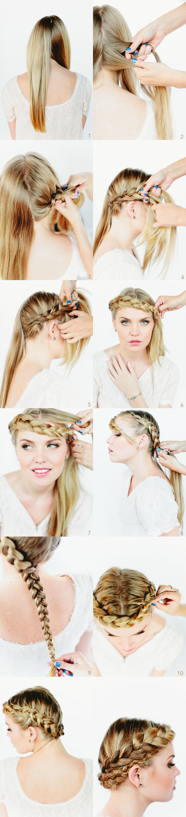 Beautiful tutorial for braided crown hairstyles