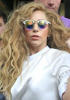 Messy Long Curly Hair - Lady Gaga Hairstyles