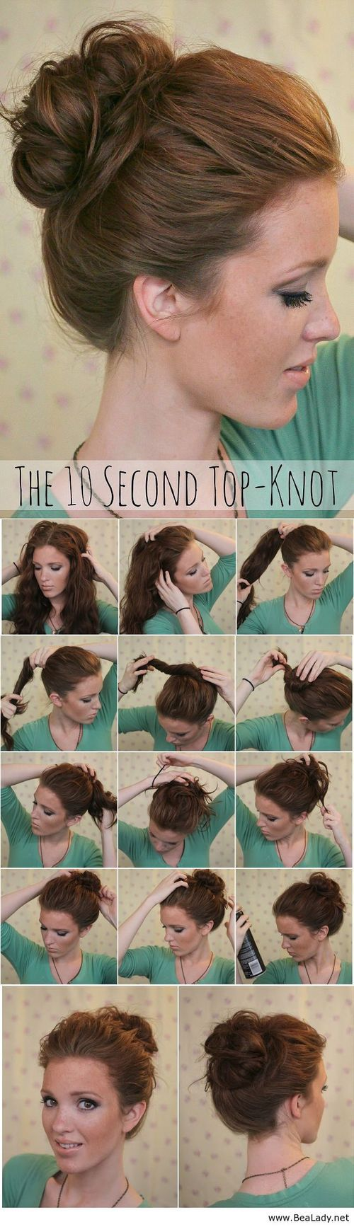 Easy Top Knot Hairstyle Tutorial