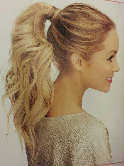 Stylish hairstyle with a high ponytail