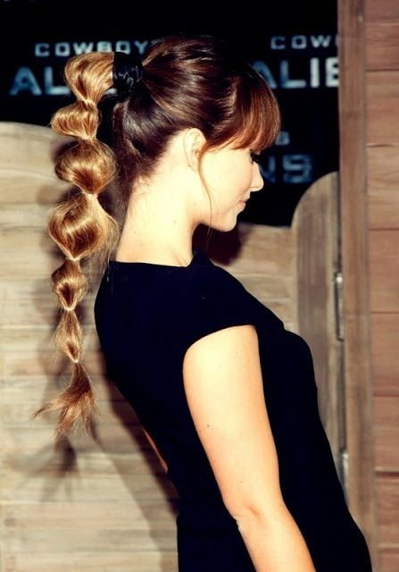 Beautiful bubble ponytail hairstyle
