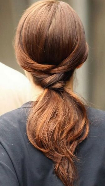 Stylish ponytail hairstyle