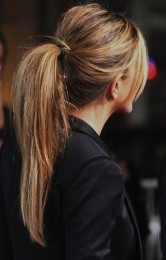 Trendy high ponytail hairstyle