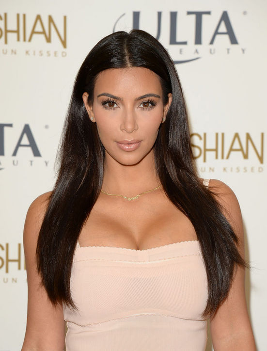 Kim Kardashian's straight layered haircut