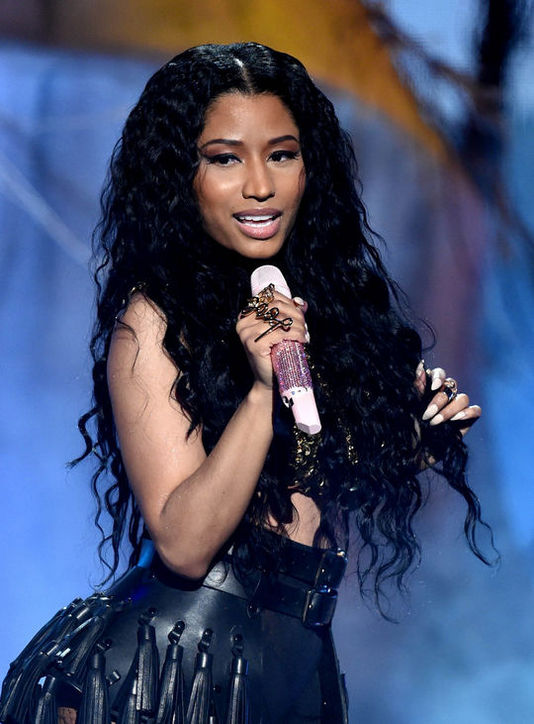 Nicki Minajs Long Mermaid Curls