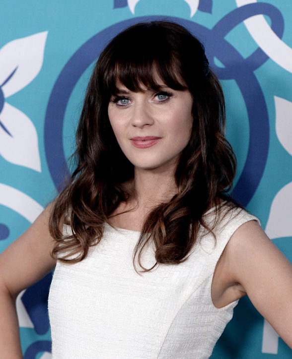 Zooey Deschanel's brunette curls