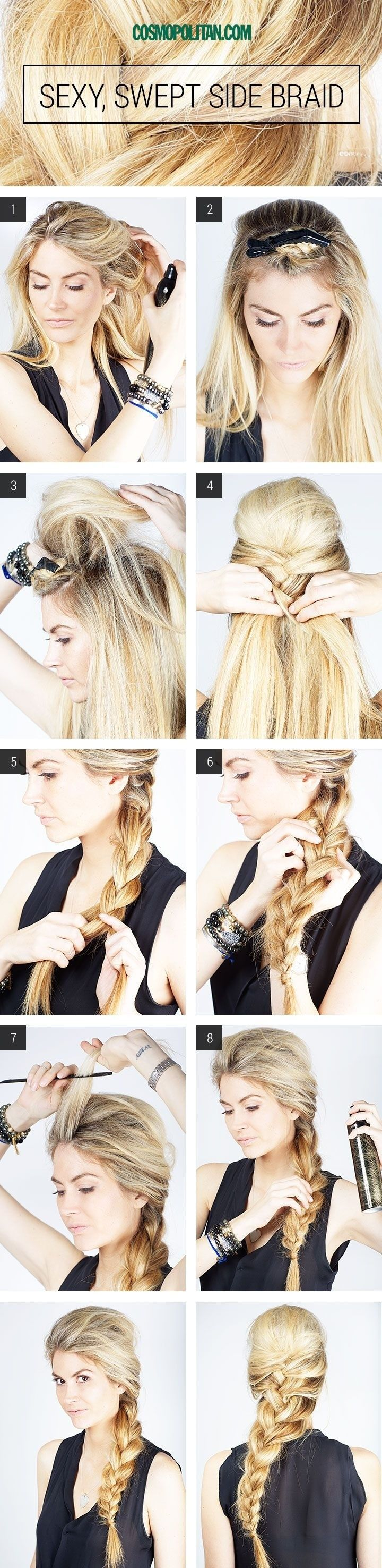 Sexy swept side braid