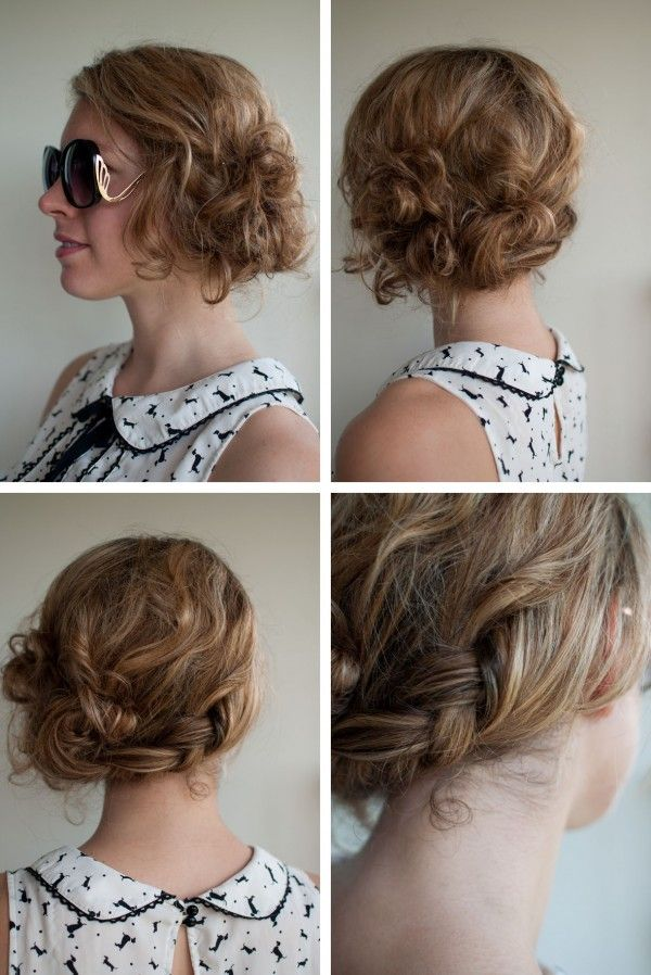 Messy braided updo with side bun