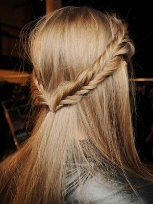Fishtail Braid for Half Up Half Down Hairstyle