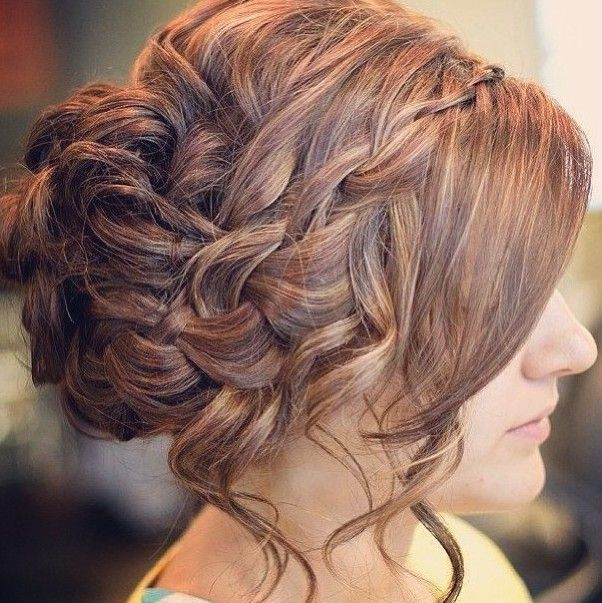 Chaotic updo for prom hairstyles