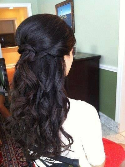 Twisted prom hairstyle for black hair
