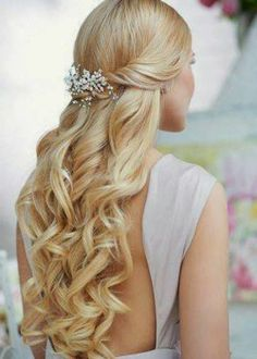 Gorgeous prom hairstyle for long blonde hair