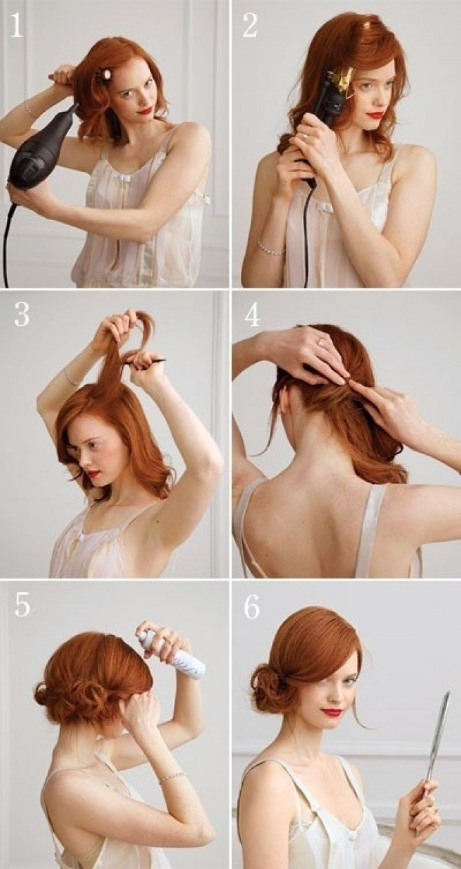 Side swept updo hairstyle tutorial
