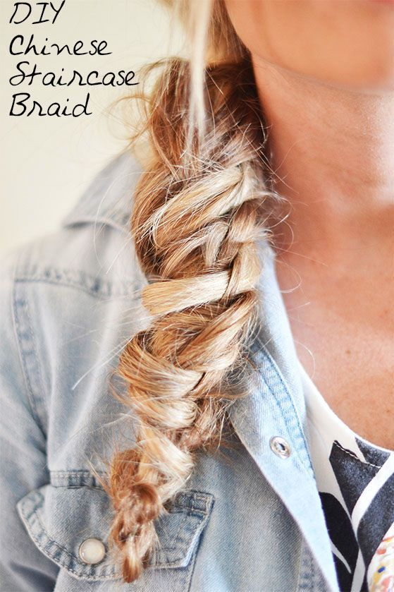 Pulling through the braid for a casual day look