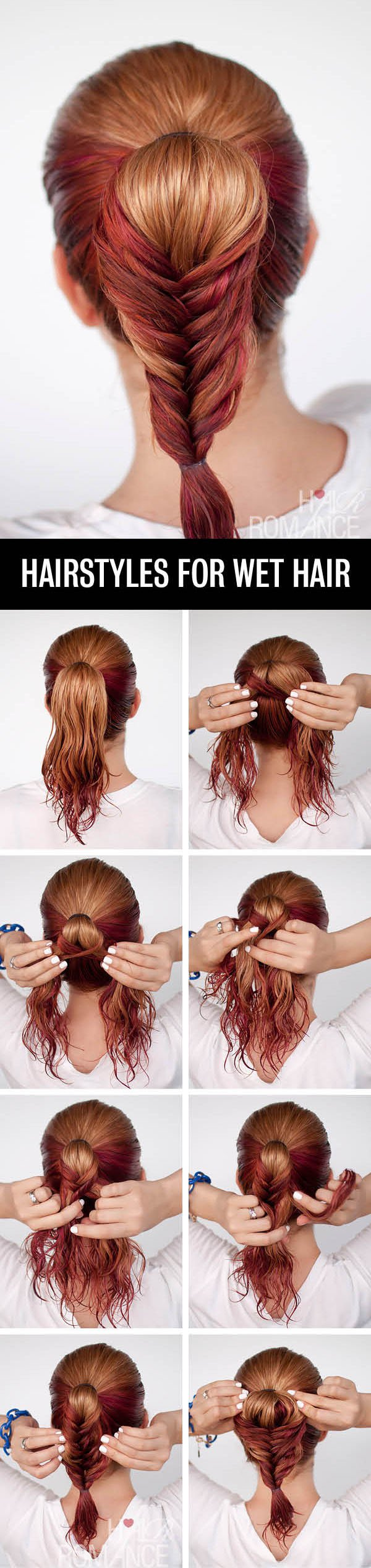 Braided ponytail hairstyle tutorial