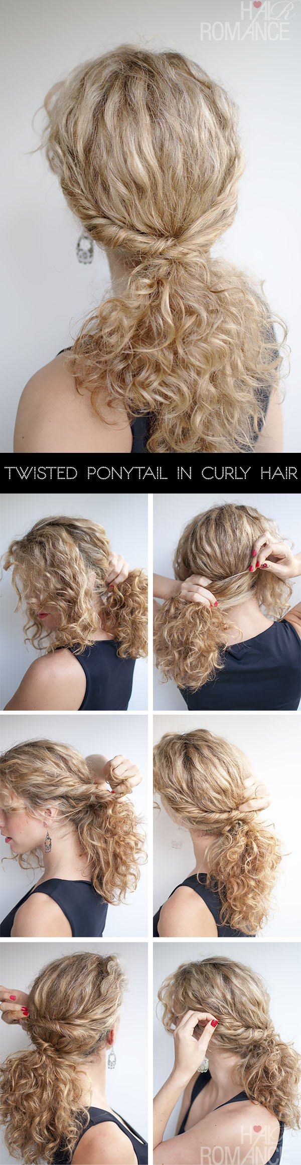 Chic twisted ponytail hairstyle tutorial for women