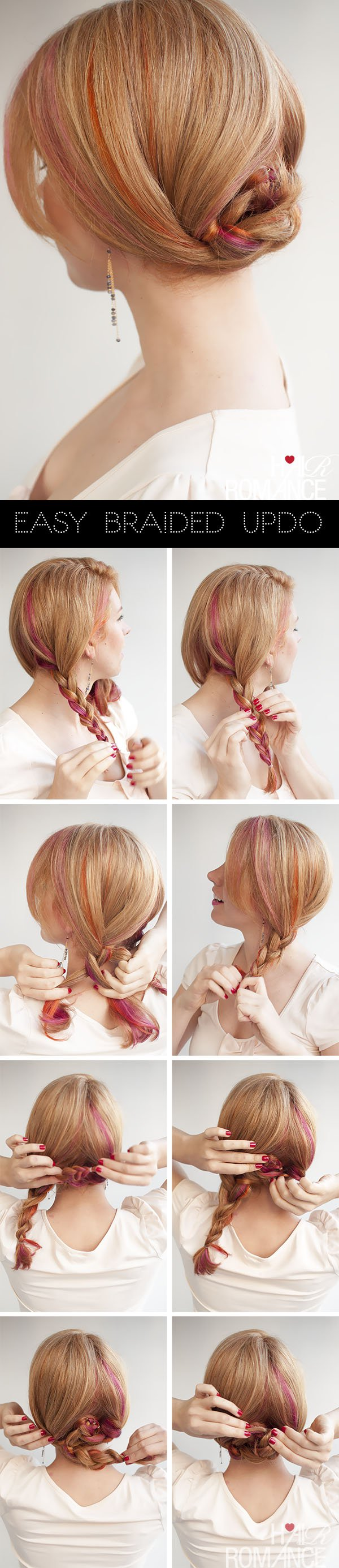 Simple braided updo for women