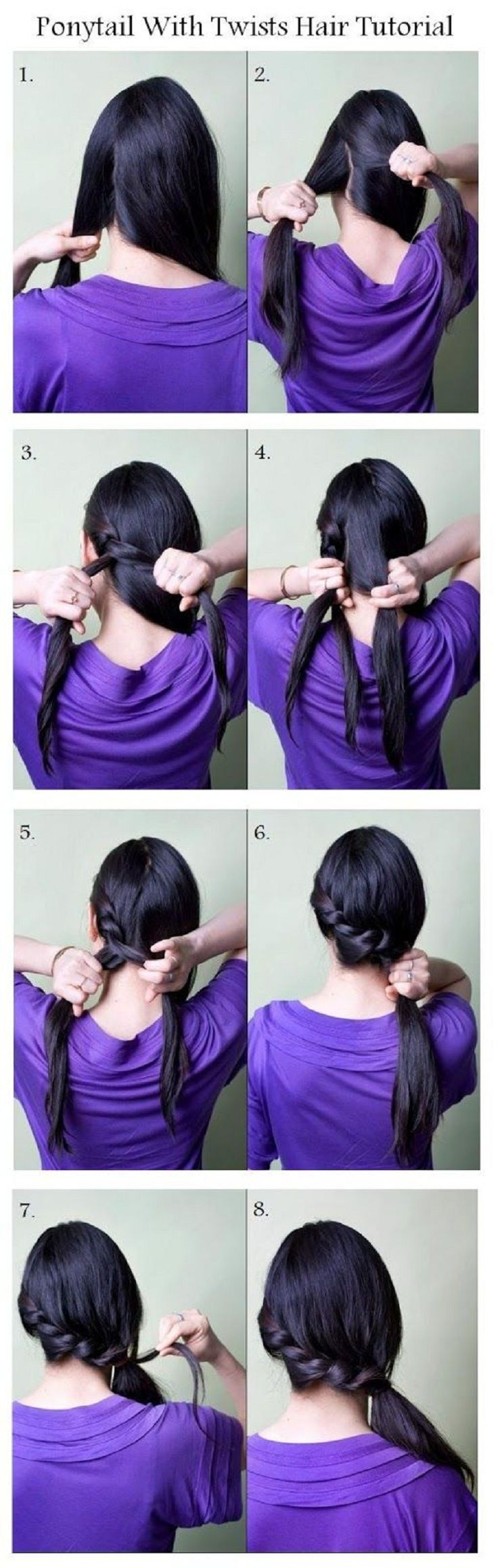 Braided ponytail on the side