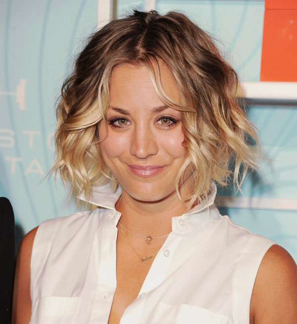 Kaley Cuoco Short Curls