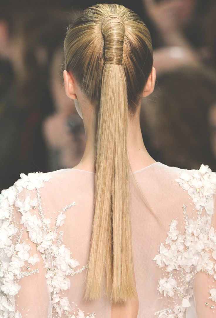 Wrapped high ponytail hairstyle