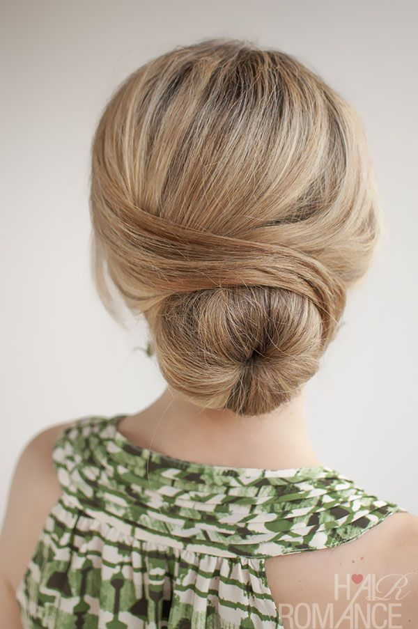 Nice low bun hairstyle