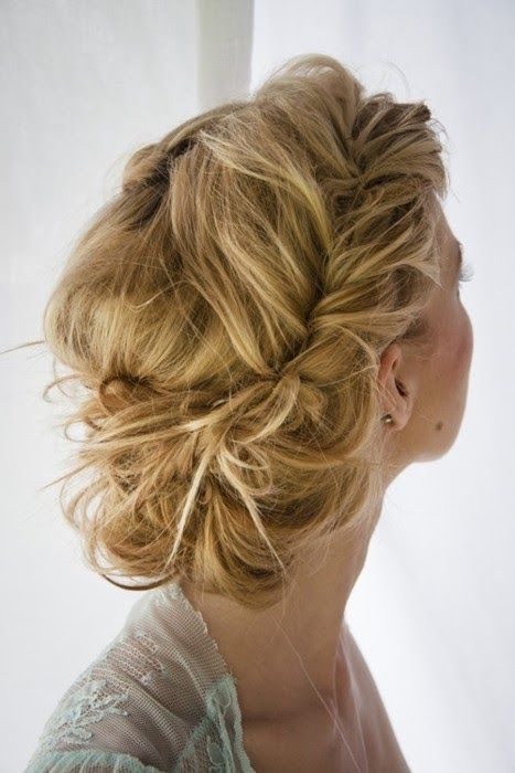 Amazing twisted updo hairstyle