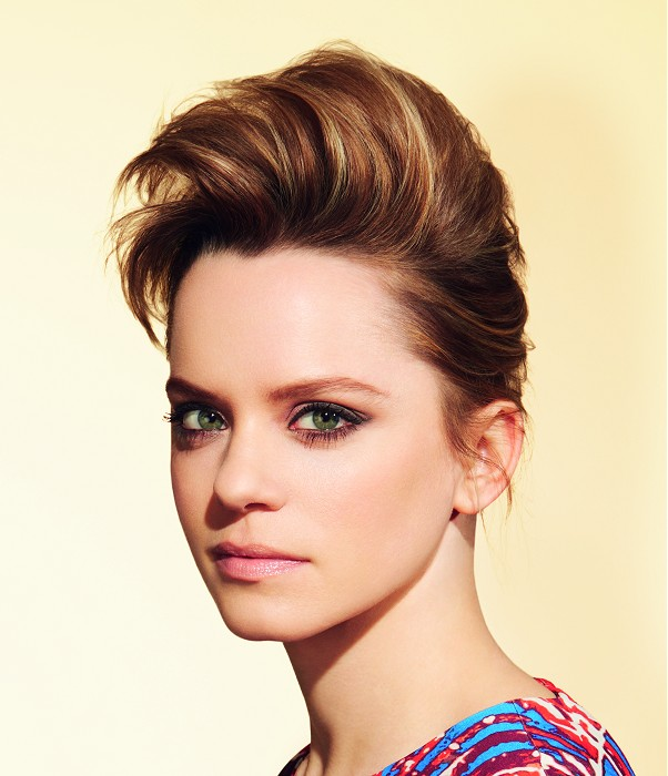 Trendy short hairstyle for brown hair