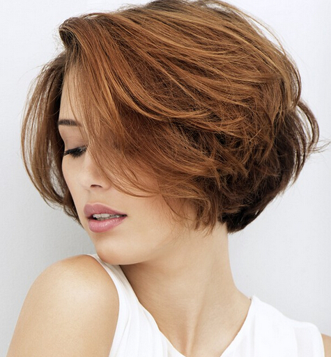 Trendy structured short hairstyle