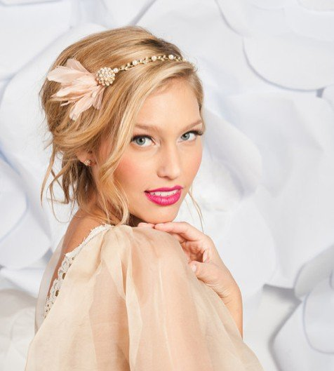 Pretty wedding hairstyle with accessories