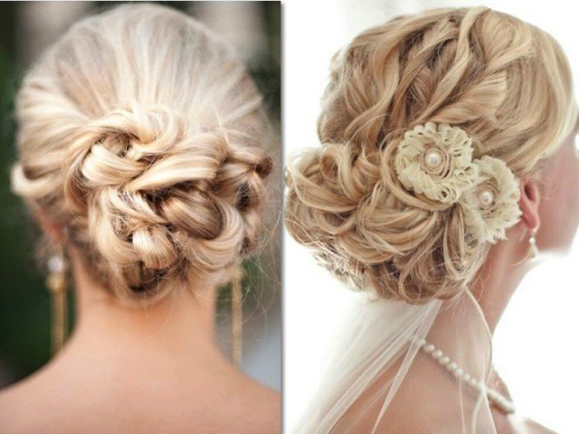 Beautiful updo for wedding