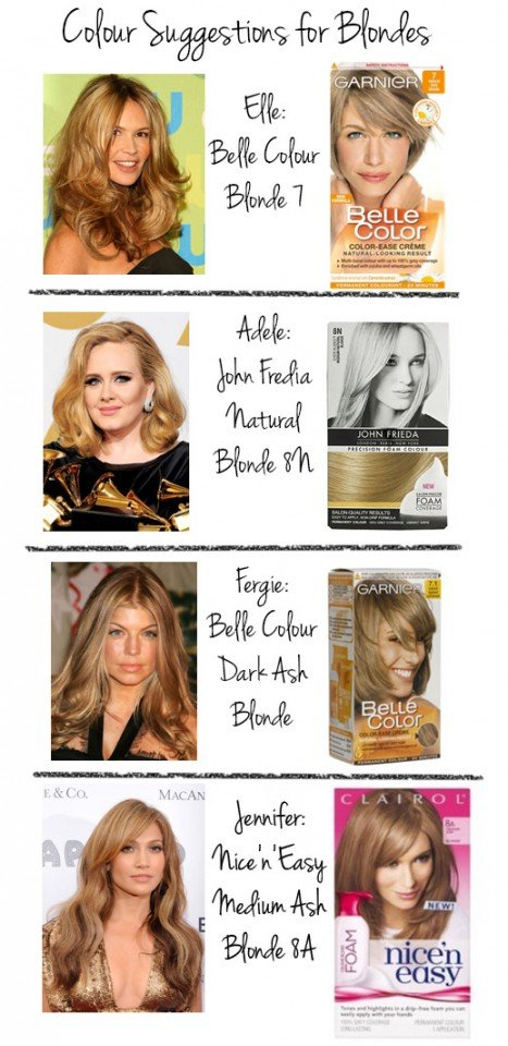 Suggestions for hair colors