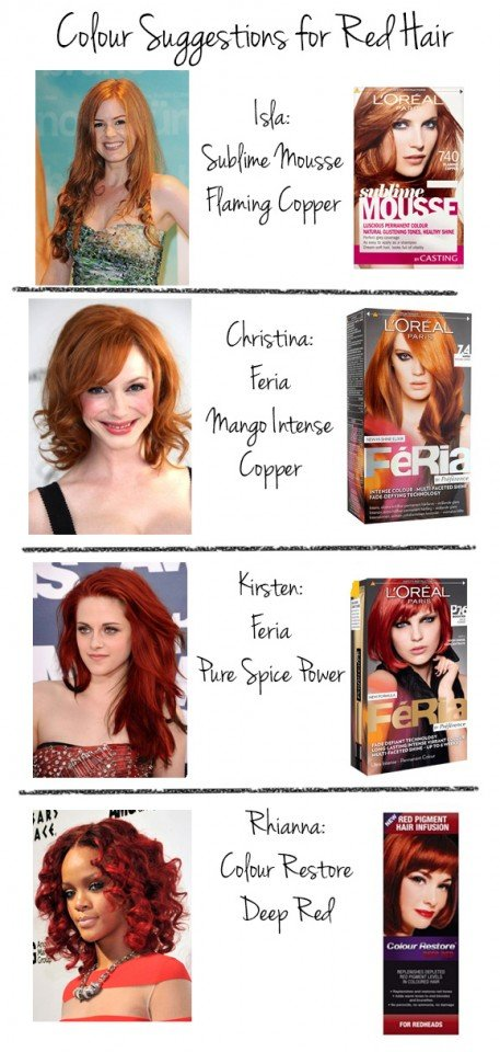 Find the hair color you want
