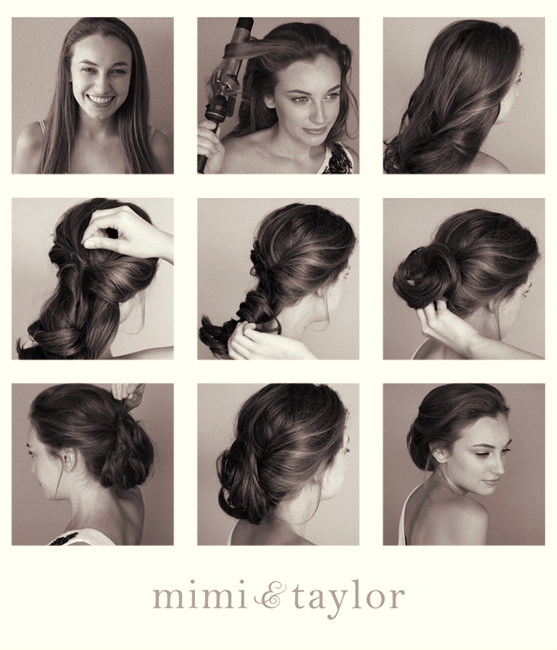 Elegant tutorial for the hairstyle of the lower updo