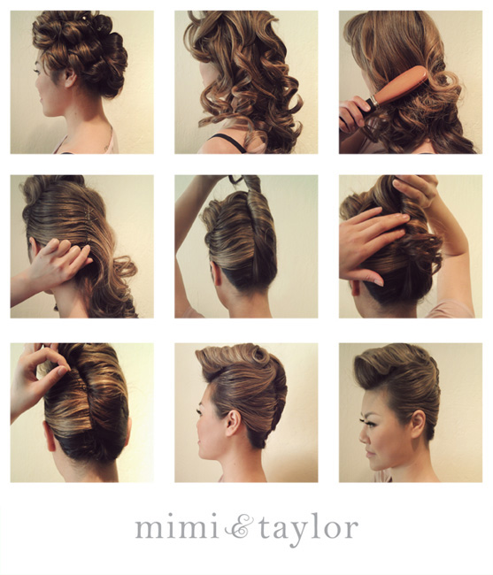 Curled quiff hairstyle tutorial