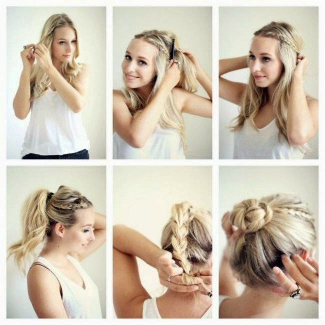 Nice braided bun hairstyle