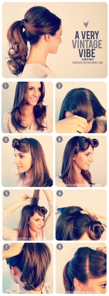 1950s ponytail hairstyle tutorial