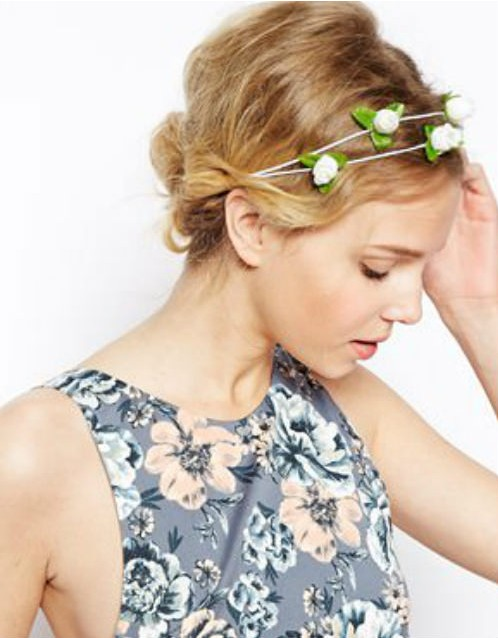 ASOS Garden Rose hair garland