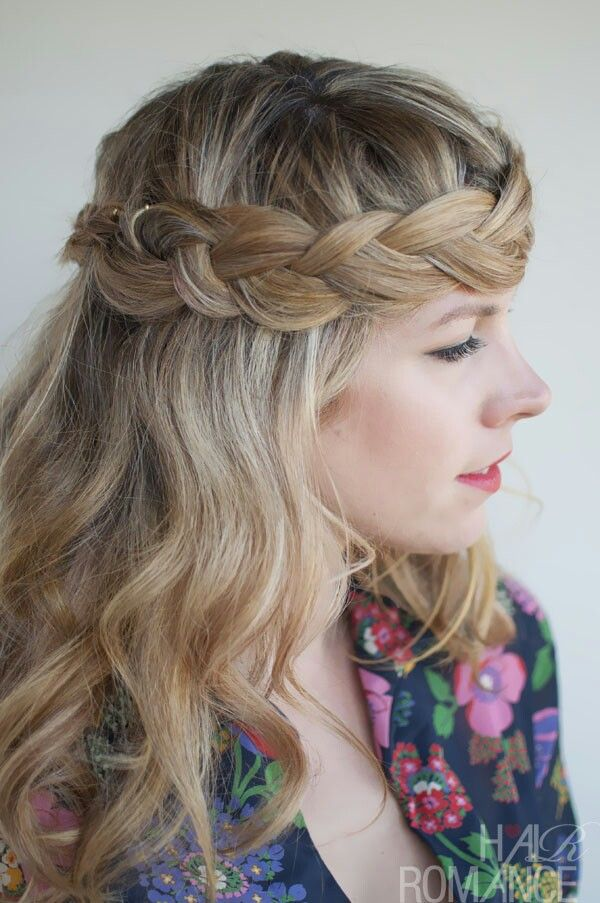 Boho chic braided hairstyle