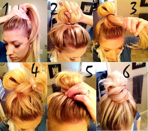 Easy high bun